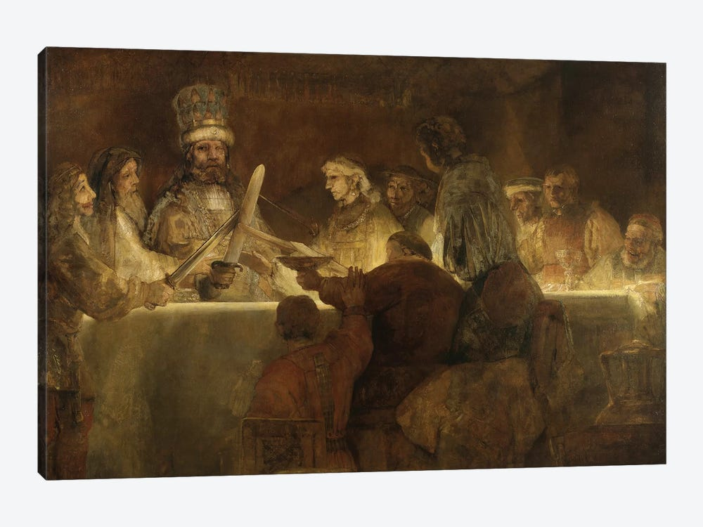 The Conspiracy Of The Batavians Under Claudius Civilis, c.1666 by Rembrandt van Rijn 1-piece Art Print