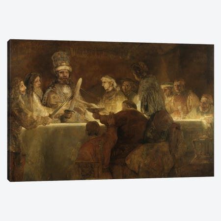 The Conspiracy Of The Batavians Under Claudius Civilis, c.1666 Canvas Print #BMN6504} by Rembrandt van Rijn Art Print