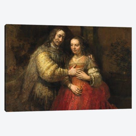 The Jewish Bride, c.1667 Canvas Print #BMN6505} by Rembrandt van Rijn Art Print