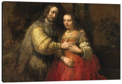 The Jewish Bride, c.1667 Canvas Art Print