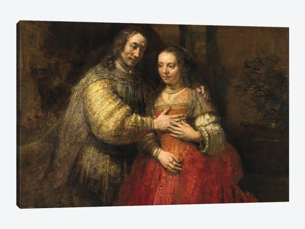The Jewish Bride, c.1667 by Rembrandt van Rijn 1-piece Canvas Wall Art
