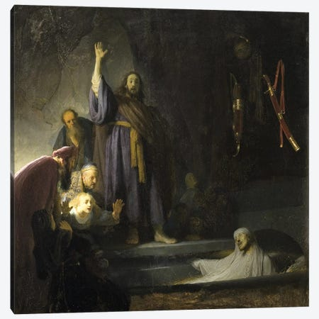 The Raising Of Lazarus, c.1630-2 Canvas Print #BMN6507} by Rembrandt van Rijn Canvas Art Print