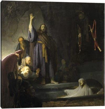 The Raising Of Lazarus, c.1630-2 Canvas Art Print