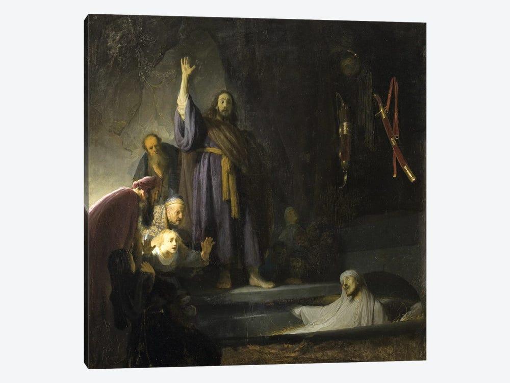 The Raising Of Lazarus, c.1630-2 by Rembrandt van Rijn 1-piece Canvas Wall Art
