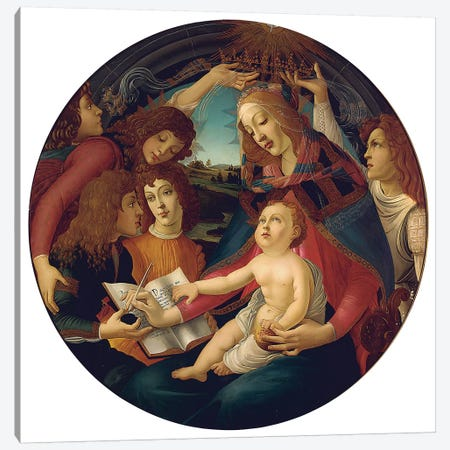 Madonna Of The Magnificat Canvas Print #BMN6508} by Sandro Botticelli Canvas Artwork