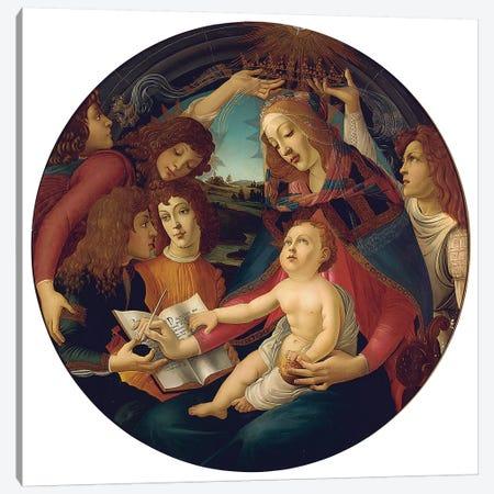 Madonna Of The Magnificat Canvas Print #BMN6508} by Sandro Botticelli Canvas Artwork