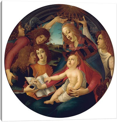 Madonna Of The Magnificat Canvas Art Print