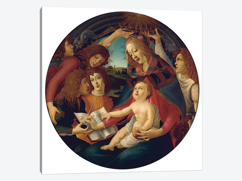 Madonna Of The Magnificat by Sandro Botticelli 1-piece Canvas Print