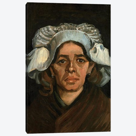 Head Of A Woman, 1885 Canvas Print #BMN6510} by Vincent van Gogh Canvas Art Print