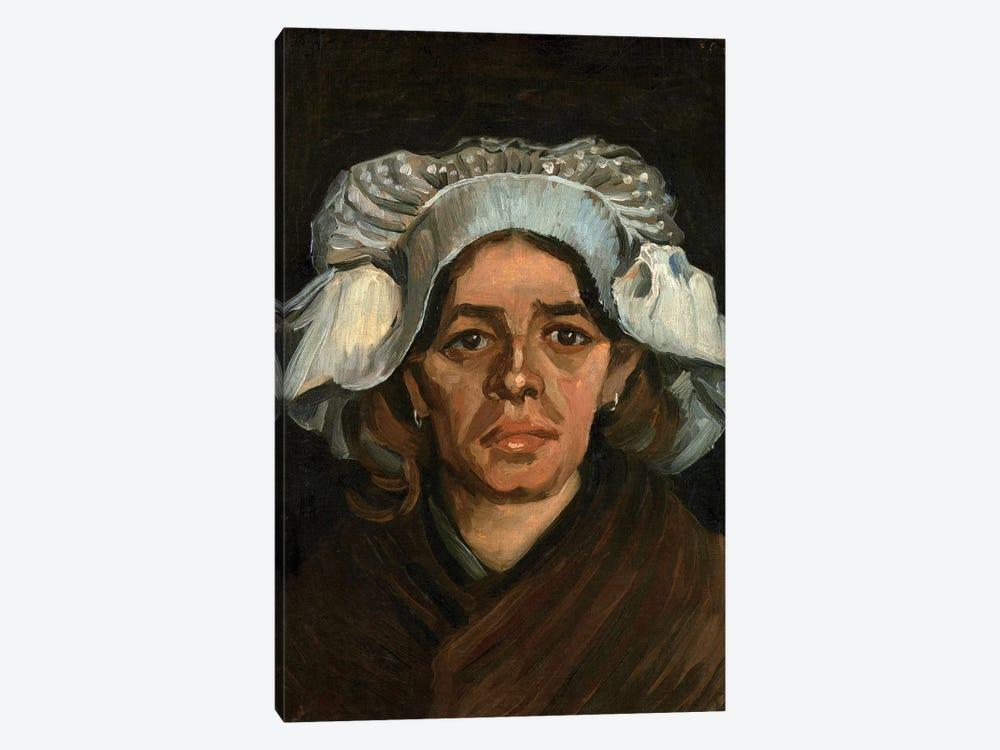 Head Of A Woman, 1885 by Vincent van Gogh 1-piece Canvas Art