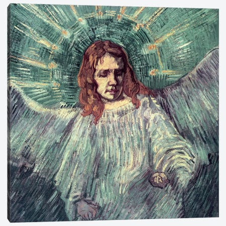 Head Of An Angel (After Rembrandt), 1889 Canvas Print #BMN6511} by Vincent van Gogh Canvas Art Print