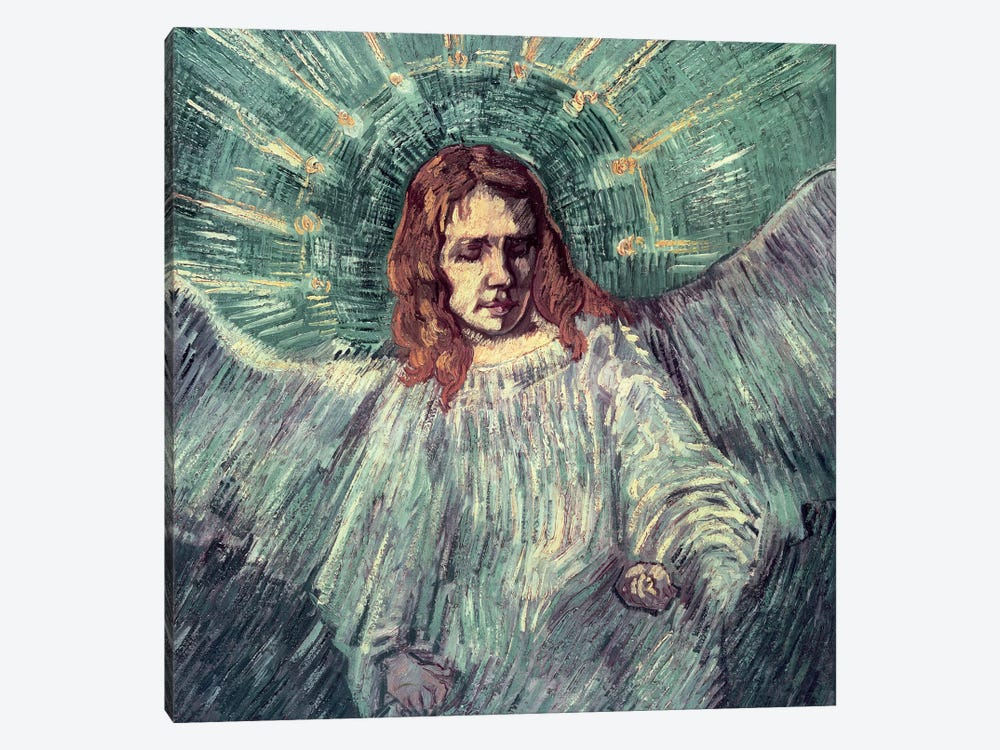 Head Of An Angel (After Rembrandt), 1889 by Vincent van Gogh 1-piece Canvas Art Print