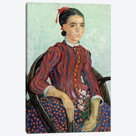 La Mousme, 1888 3-Piece Canvas #BMN6512} by Vincent van Gogh Art Print