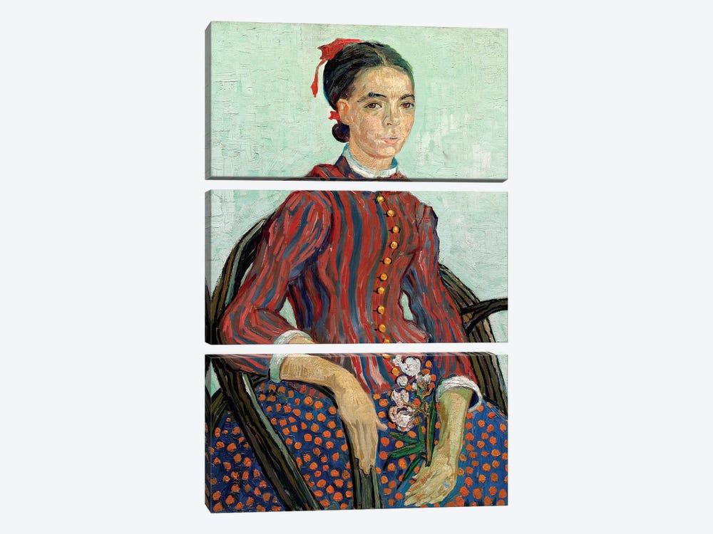 La Mousme, 1888 by Vincent van Gogh 3-piece Canvas Artwork