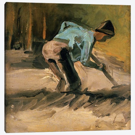 Man At Work, c.1883 Canvas Print #BMN6513} by Vincent van Gogh Canvas Art Print