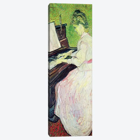 Marguerite Gachet At The Piano, 1890 Canvas Print #BMN6514} by Vincent van Gogh Canvas Artwork