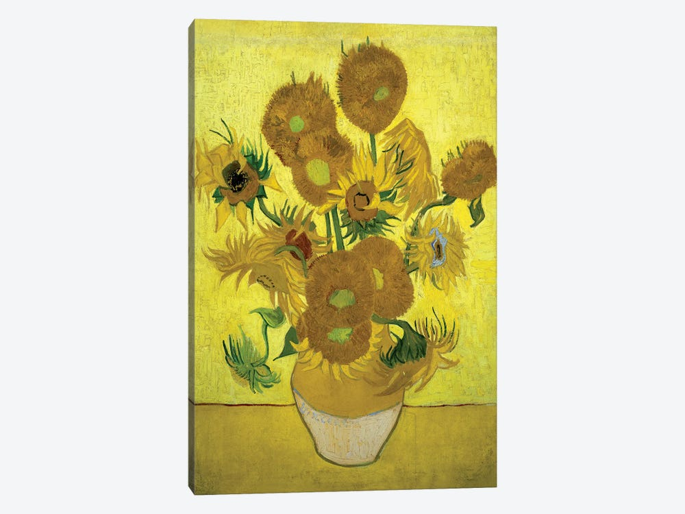 Sunflowers (Repetition Of The Fourth Version), 1889 by Vincent van Gogh 1-piece Canvas Art