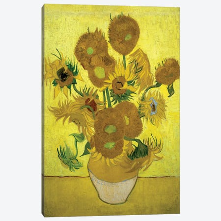 Sunflowers (Repetition Of The Fourth Version), 1889 Canvas Print #BMN6516} by Vincent van Gogh Canvas Wall Art