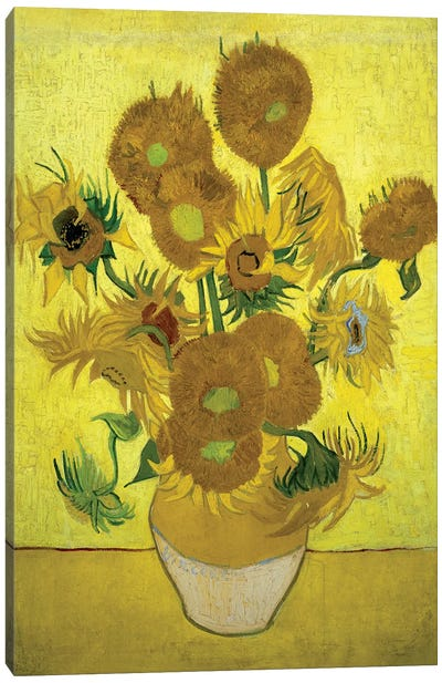 Sunflowers (Repetition Of The Fourth Version), 1889 Canvas Art Print