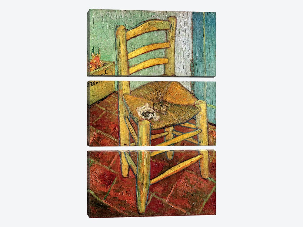 Vincent's Chair, 1888 by Vincent van Gogh 3-piece Canvas Wall Art