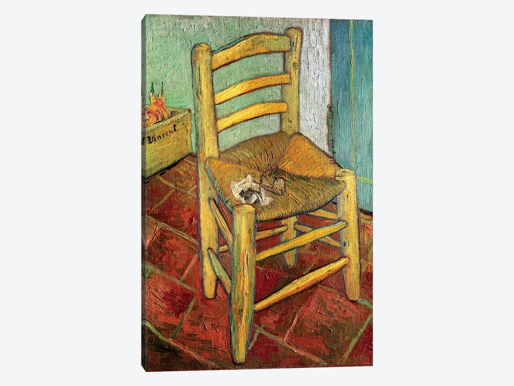 Vincent's Chair, 1888 by Vincent van Gogh 1-piece Canvas Wall Art