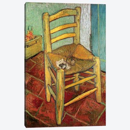 Vincent's Chair, 1888 Canvas Print #BMN6518} by Vincent van Gogh Canvas Art Print