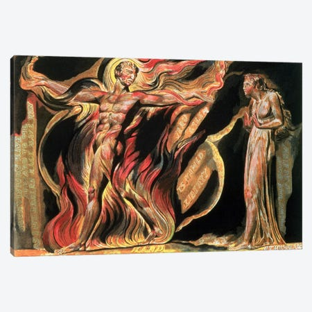 """""""Such Visions Have Appeared To Me"""" (Illustration From Jerusalem: The Emanation Of The Giant Albion), 1804 Canvas Print #BMN6519} by William Blake Art Print"""
