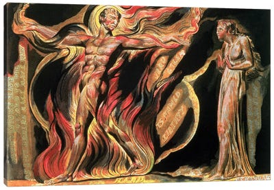 """""""Such Visions Have Appeared To Me"""" (Illustration From Jerusalem: The Emanation Of The Giant Albion), 1804 Canvas Art Print"""