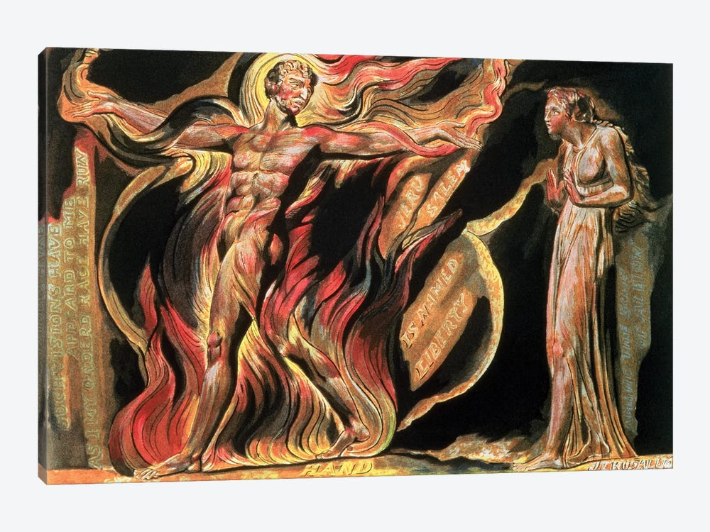 """""""Such Visions Have Appeared To Me"""" (Illustration From Jerusalem: The Emanation Of The Giant Albion), 1804 by William Blake 1-piece Art Print"""