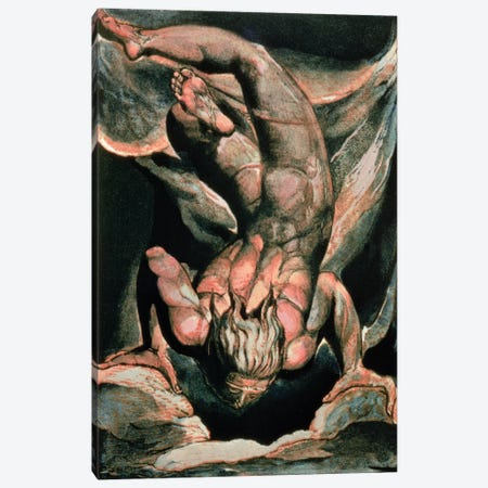Man Floating Upside Down (Illustration From The First Book Of Urizen), 1794 Canvas Print #BMN6520} by William Blake Canvas Wall Art