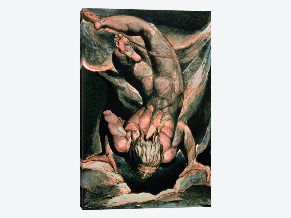 Man Floating Upside Down (Illustration From The First Book Of Urizen), 1794 by William Blake 1-piece Canvas Art Print