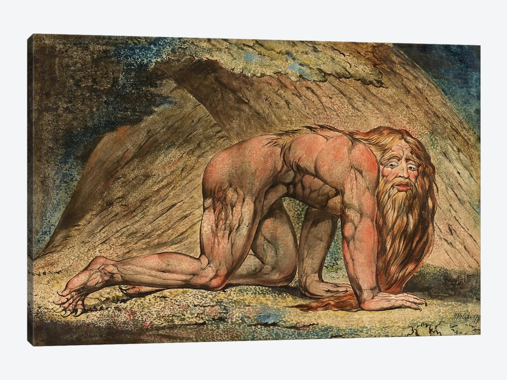 Nebuchadnezzar, 1795 (Minneapolis Institute Of Art) by William Blake 1-piece Canvas Art