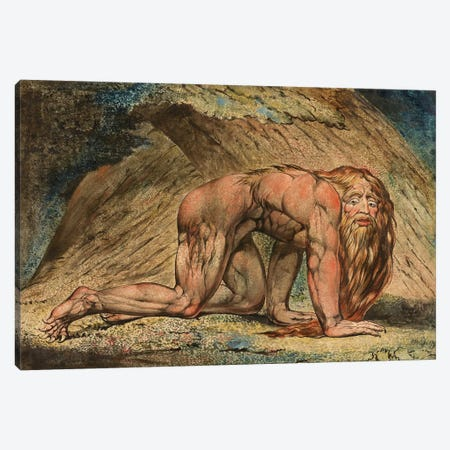 Nebuchadnezzar, 1795 (Minneapolis Institute Of Art) Canvas Print #BMN6521} by William Blake Canvas Art