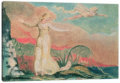 Thel In The Vale Of Har (Illustration From The Book Of Thel), 1794 Canvas Print #BMN6522