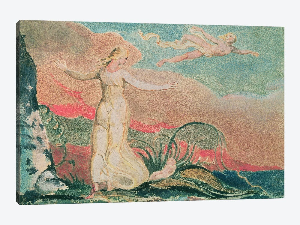 Thel In The Vale Of Har (Illustration From The Book Of Thel), 1794 by William Blake 1-piece Canvas Print