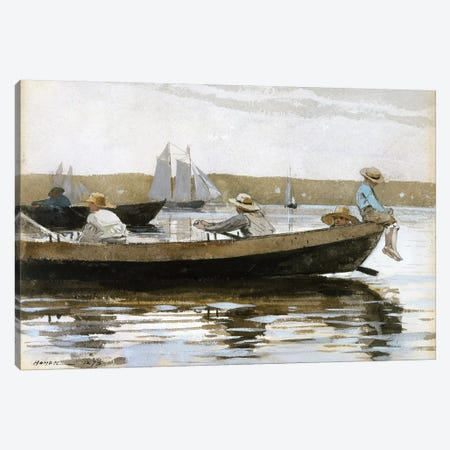Boys In A Dory, 1873 Canvas Print #BMN6523} by Winslow Homer Canvas Wall Art