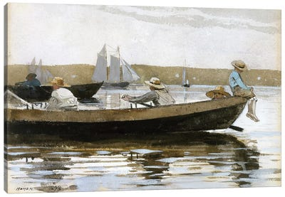 Boys In A Dory, 1873 Canvas Art Print