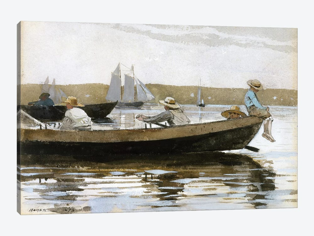 Boys In A Dory, 1873 by Winslow Homer 1-piece Canvas Wall Art