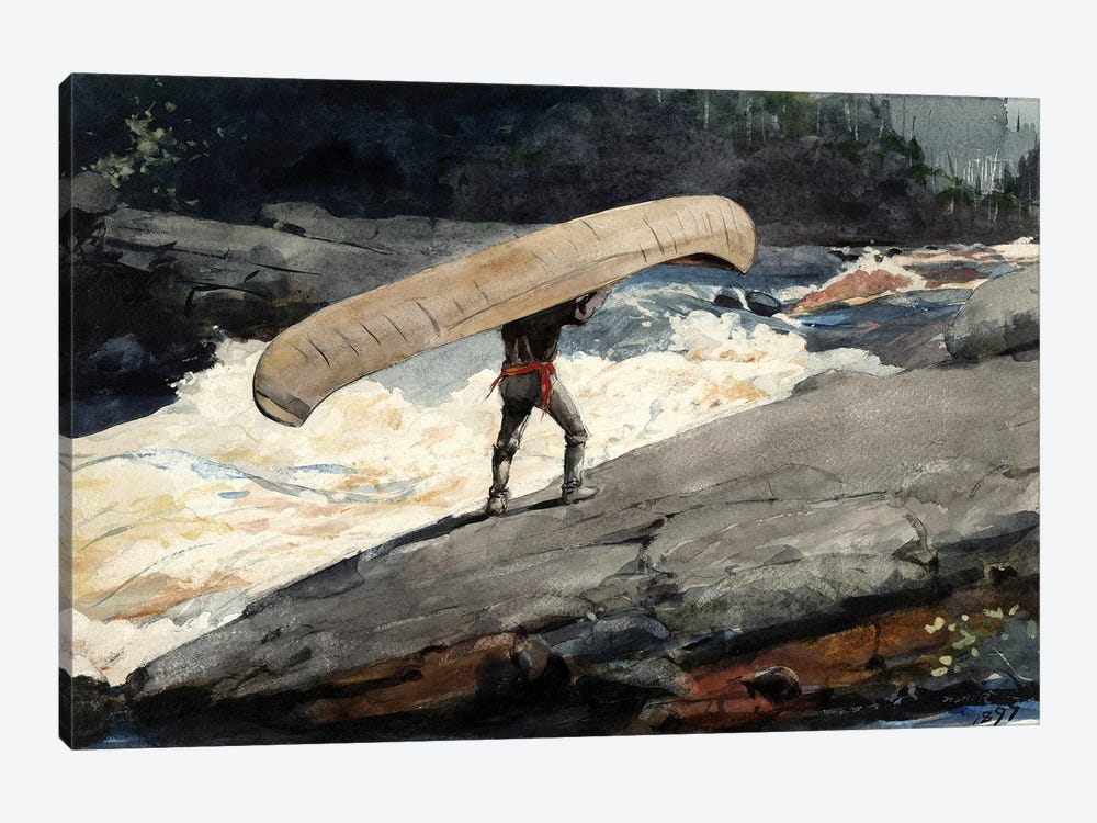 The Portage, 1897 by Winslow Homer 1-piece Canvas Artwork