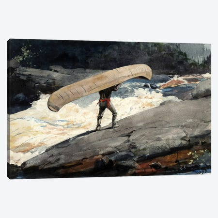 The Portage, 1897 Canvas Print #BMN6525} by Winslow Homer Art Print
