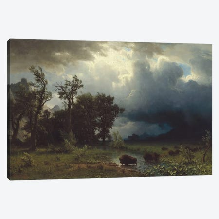 Buffalo Trail: The Impending Storm, 1869 Canvas Print #BMN6528} by Albert Bierstadt Canvas Art
