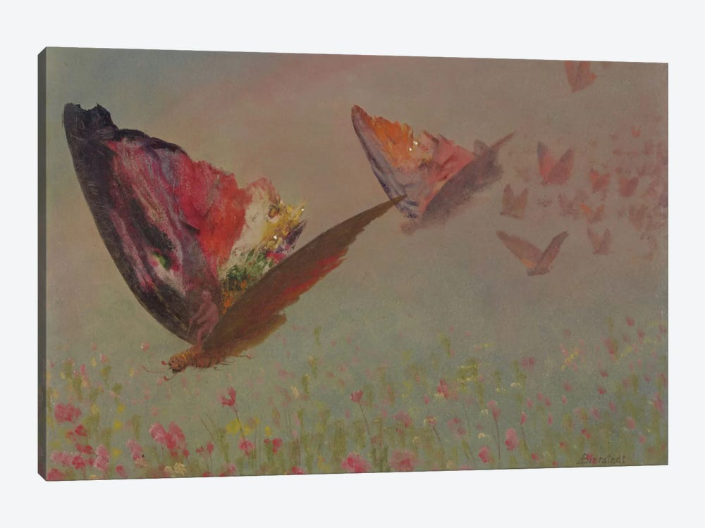 Butterflies With Riders 1-piece Canvas Art