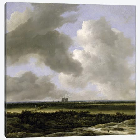Panoramic View of Haarlem, c.1670  Canvas Print #BMN652} by Jacob Isaacksz van Ruisdael Art Print