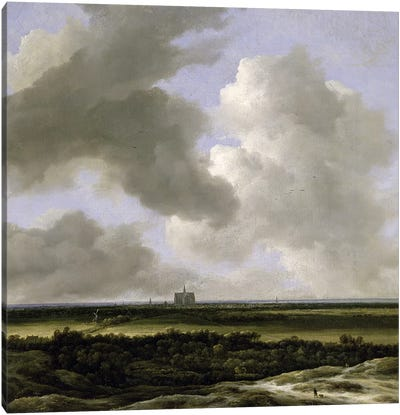 Panoramic View of Haarlem, c.1670 Canvas Art Print