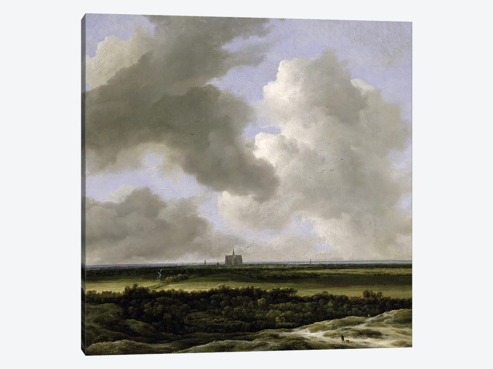 Panoramic View of Haarlem, c.1670 by Jacob Isaacksz van Ruisdael 1-piece Canvas Art