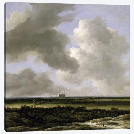 Panoramic View of Haarlem, c.1670  Canvas Print #BMN652} by Jacob Isaacksz van Ruisdael Art Print