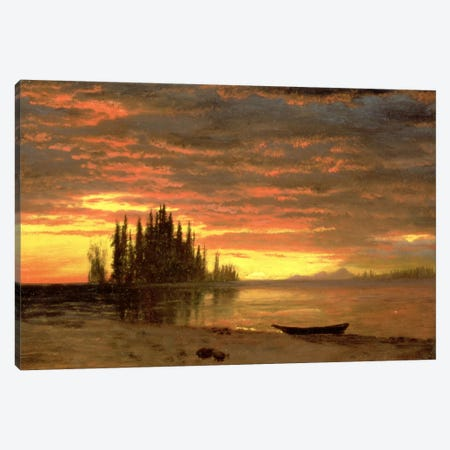California Sunset Canvas Print #BMN6531} by Albert Bierstadt Canvas Print
