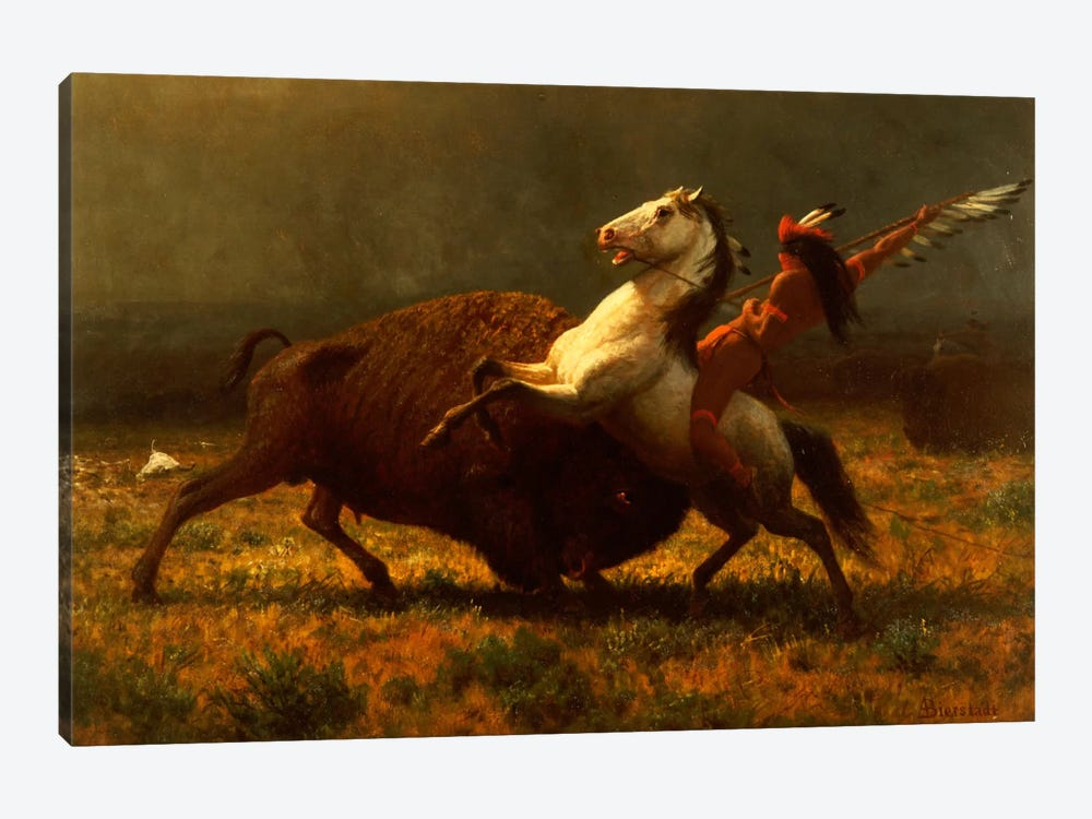 Figure Study, The Last Of The Buffalo, c.1888 by Albert Bierstadt 1-piece Canvas Art