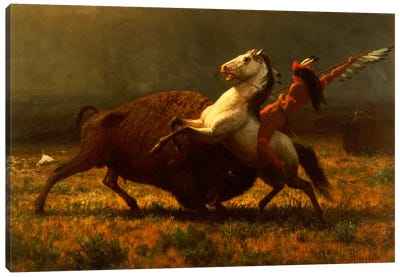 Figure Study, The Last Of The Buffalo, c.1888 Canvas Art Print