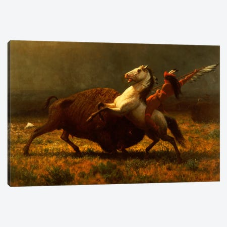 Figure Study, The Last Of The Buffalo, c.1888 Canvas Print #BMN6534} by Albert Bierstadt Canvas Wall Art